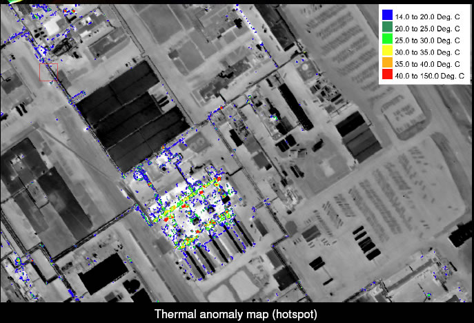 Thermal anomaly map (hotspot)